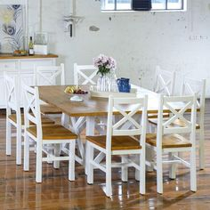 Newport 1500 Dining Package (Table:  1500W x 1500D x 770H mm; chairs:  470W x 465D x 1020H mm) RRP $1,749