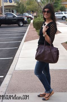 39667218e9a6 Tan retro Fit in Clouds flats styled with jeans and black top!