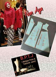 Sewing Hacks, Sewing Crafts, Sewing Projects, Blouse Patterns, Clothing Patterns, Kebaya Brokat, Kebaya Muslim, Fashion Terms, Love Sewing
