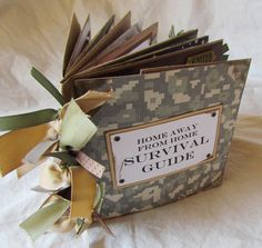 Cute  SURVIVAL GUIDE MiLiTaRy DePLoYmEnT stampingirl2.via Etsy.