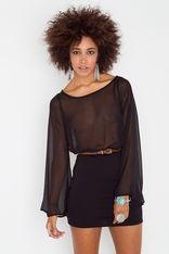 strapped chiffon dress @nastygal.com