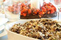 Gluten-free Wild Rice and Mushroom Stuffing    Gluten free, Dairy free, Sugar free, Corn free