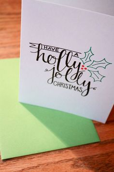 22 Handmade Calligraphy Christmas Cards | DIY Christmas Cards at http://diyready.com/22-handmade-calligraphy-christmas-cards-diy-christmas-cards/