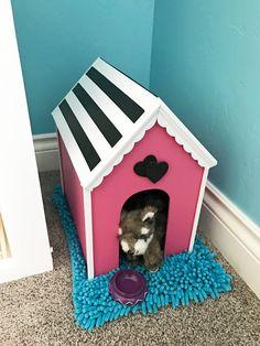 American Girl Doll DIY dog house idea. PLUS tons of American girl doll storage ideas.