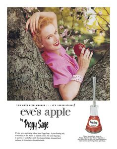 Peggy Sage nail polish ad, 1955. #vintage #1950s #cosmetics
