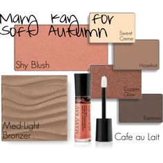 Mary Kay for Soft Autumn by sarahmae-86 on Polyvore featuring beauty and Mary Kay