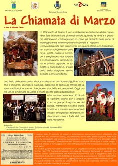 """Presentazione generale della storia della """"Chiamata di Marzo"""", antica manifestazione di origine cimbra che si svolge, l'ultima domenica di febbraio degli anni pari, a Recoaro Terme (VI)"""