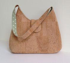 Cork natural eco friendly hand shoulder bag by MyCottonHouse