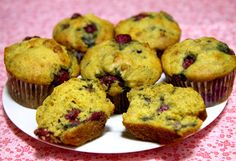 Lemon Raspberry Muffins: If you are watching her sugar intake, bake up a batch of these moist and delicious low-sugar high-protein lemon raspberry muffins made with Greek yogurt. They're great to nibble on while waiting for brunch to finish cooking on the griddle.