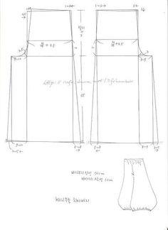 ... Clothing Patterns, Sewing Patterns, Serger Sewing, Kimono Fabric, Period Costumes, Pants Pattern, Skirt Pants, Refashion, Dressmaking