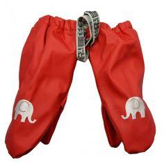 Rain mittens with fleece lining, red, Celavi