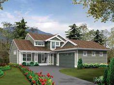 Narrow Lot House Plans   ... Narrow or Corner Lot (HWBDO14543)   Craftsman House Plan from