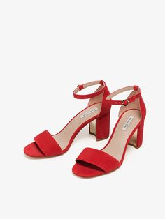 SANDALIA PIEL ANTE ROJO de REBAJAS - Zapatos de Massimo Dutti de Primavera Verano 2017 por 1495. ¡Elegancia natural!
