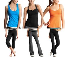 #yoga clothes from the GAP - tops $20; pants under $35