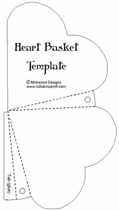 heartbasket template - lots of templates for other boxes & baskets on this…
