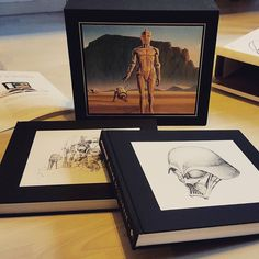 What a wonderful book!  Must have in every #starwars fan collection.  #ralphmcquarrie #mcquarrie #artbook #book #conceptart