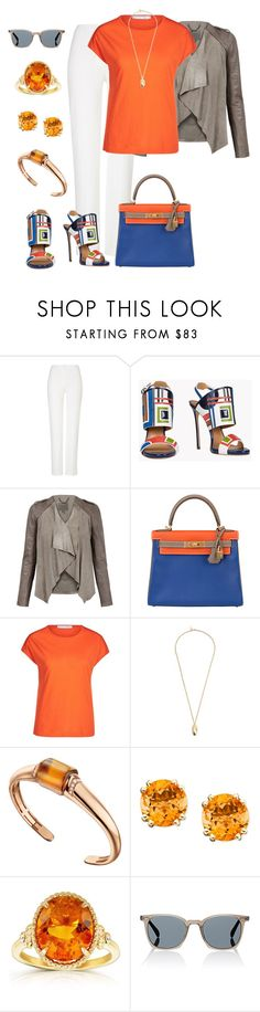"""""""Untitled #1678"""" by beng-gallo on Polyvore featuring ESCADA, Dsquared2, MuuBaa, Hermès, Oui, Pembe Club, Bulgari, Kobelli and Oliver Peoples"""