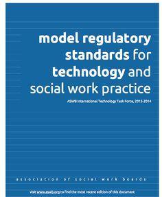 ASWB report on model regulatory standards for technology & #socialwork practice