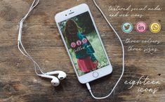 Blog Design, Web Design, Graphic Design, Pink Yellow, Aqua, Scissors Design, All Icon, Design Elements, Social Media