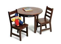 Other Kids and Teens Items 176989: Lipper Childs Rd. Table And 2 Chairs-Walnut 524Wn Kids Furniture New -> BUY IT NOW ONLY: $163.86 on eBay!