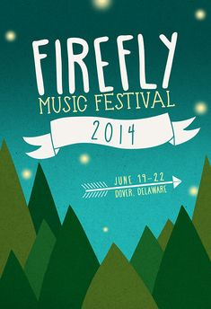 Poster created for the 2014 Firefly Music Festival.  Awarded honorable mention on the festival's website.