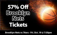 57% off Brooklyn Nets Tickets vs Philadelphia 76ers Fri. Oct. 19 @ 7:30pm