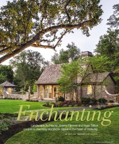 Garden Cottage | Alice Lane Interior Design | Photo by Josh Caldwell Interior Design Photos, English Countryside, House Goals, Lake City, The Great Outdoors, Garden Cottage, Exterior, Patio, Landscape