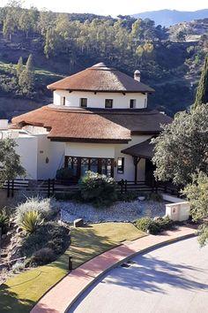 Beautiful thatched roof at La Zagaleta in Benahavis Hills, Spain
