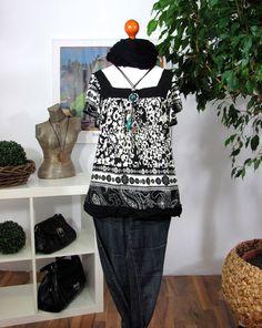 Details zu BOUTIQUE SHIRT BLUSE TUNIKA Oberteil Damenshirt Gr S 36 38 NEUw  Schwarz weiß K32 159c2b5907