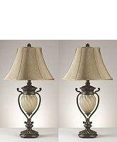 "Signature Design by Ashley 34"" Set of 2 Gavivi Table Lamp Dark Brown L531914"