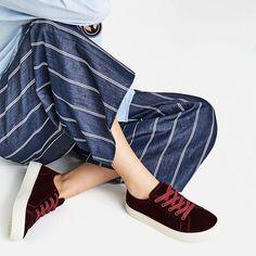 Image 1 of VELVET SNEAKERS from Zara