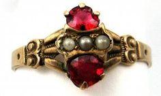Victorian 10k Rose Gold & Glass Ring #GotVintage #Vintage #Jewelry