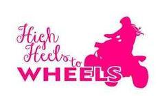 High Heels to Wheels Vinyl Decal Stickers Moto Girl Chick ATV Quad Dirtbike Bike | eBay