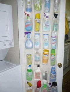 Organize your cleaning products.