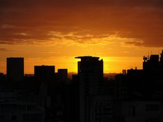 sunset in São Paulo
