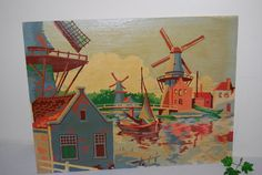 Vintage Paint By Numbers Sailing in The by CheekyVintageCloset