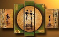 5101 pintado à mão 5 peça moderna pintura a óleo lona amantes imagem da dança parede art para sala casa decoração