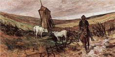 Berittener Hirte und Kühe - Giovanni Fattori