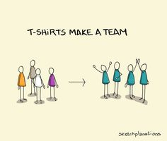 T-shirts make a team - Sketchplanations Building Software, Team Building, Beneath The Surface, Violent Crime, Global Design, Self Improvement, A Team, Feel Good, Bring It On