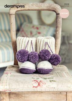Crochet Slipper Boots in Deramores Vintage Chunky (2008) | Deramores