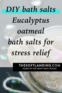 DIY eucalyptus oatmeal Bath Salts: our recipe for homemade eucalyptus oatmeal bath salts because it offers the perfect solution for winding down after a tough day, while boosting the immune system. Mask For Oily Skin, Skin Mask, Detox Your Home, Oatmeal Bath, Homemade Bath Bombs, Homemade Deodorant, Natural Acne Remedies, Diy Scrub, Homemade Beauty Products