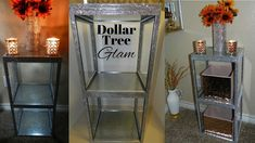 Today I share with you how I created this DIY Elegant End Table/ Side Table and storage stand using Dollar Tree Items. Quick and Glam DIY for your Home that . Diy Side Table, Diy Nightstand, Diy Home Decor Easy, Diy Decor, Diy Table, Diy Dollar Tree Decor, Dollar Tree Decor, Plastic Drawer Makeover, Dollar Tree Diy Organization