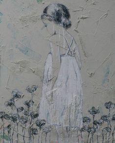 painting girl, meisje 100x80