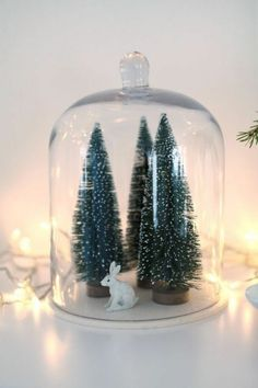decoration-de-noel-en-verre-transparente-deco-noel-originale-pas-cher-globe-verre-cloche-à-gateau-en-verre