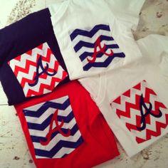 Atlanta Braves Monogrammed Tshirts by ElsBriarPatch on Etsy, $18.00