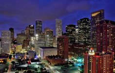 Downtown Houston - Late Blue Hour | by Rebecca Ang