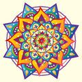 Mandala colorful bright vector illustrated Stock Photos
