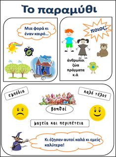 στην Τετάρτη τάξη: Παραμύθι Language Lessons, Language Activities, Speech And Language, Speech Therapy Activities, Writing Activities, Preschool Activities, Primary School, Elementary Schools, Learn Greek