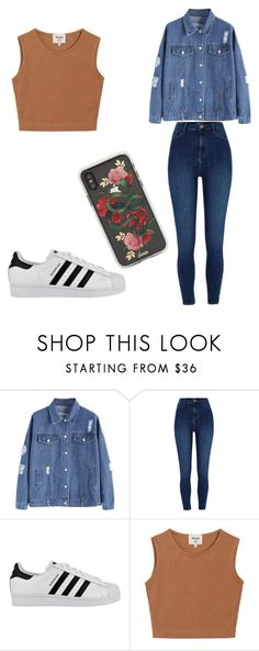 """Untitled #45"" by kacis-kacis on Polyvore featuring River Island, adidas, Samuji and Sonix"