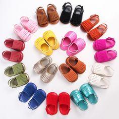 2016 baru musim panas PU Kulit karet sole Sepatu Bayi moccasins Gadis padat Bayi Bayi Balita Pertama Walkers Anti-slip sepatu